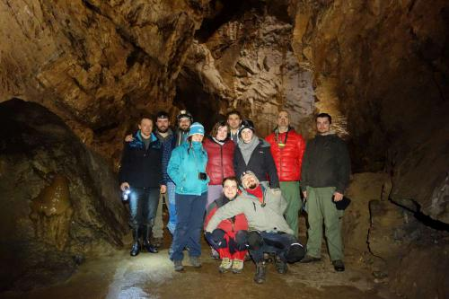 Jeskyňáři na exkurzi