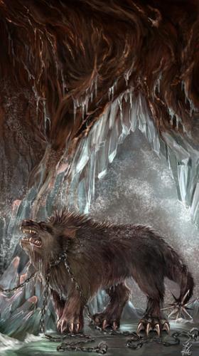 Pes v jeskyni