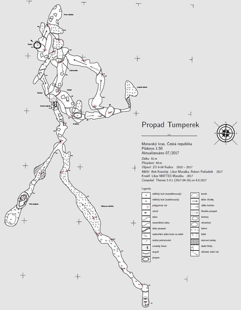 Tumperek - půdorys